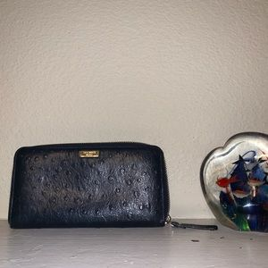 Kate Spade ostrich embossed leather wallet
